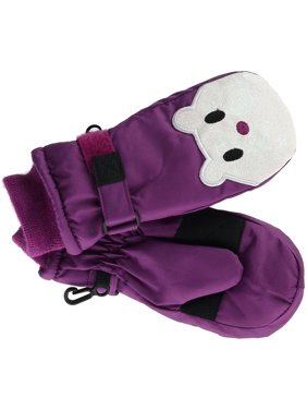 Size  one size Toddler Girl's 2-4 Sparkle Face Ski Mitten