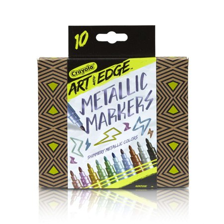 - Crayola Art With Edge Metallic Markers, 10 Count