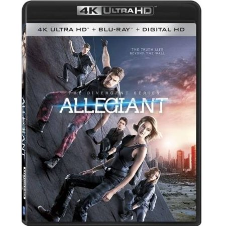 The Divergent Series  Allegiant  4K Ultrahd   Blu Ray   Digital Hd   With Instawatch