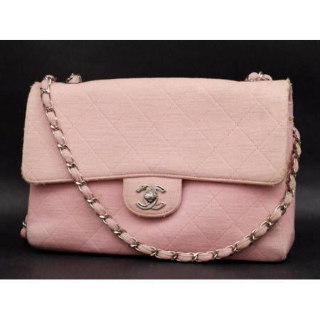 f1839e1efec9cd Classic Flap Silver Quilted 232361 Pink Jersey Shoulder Bag ...