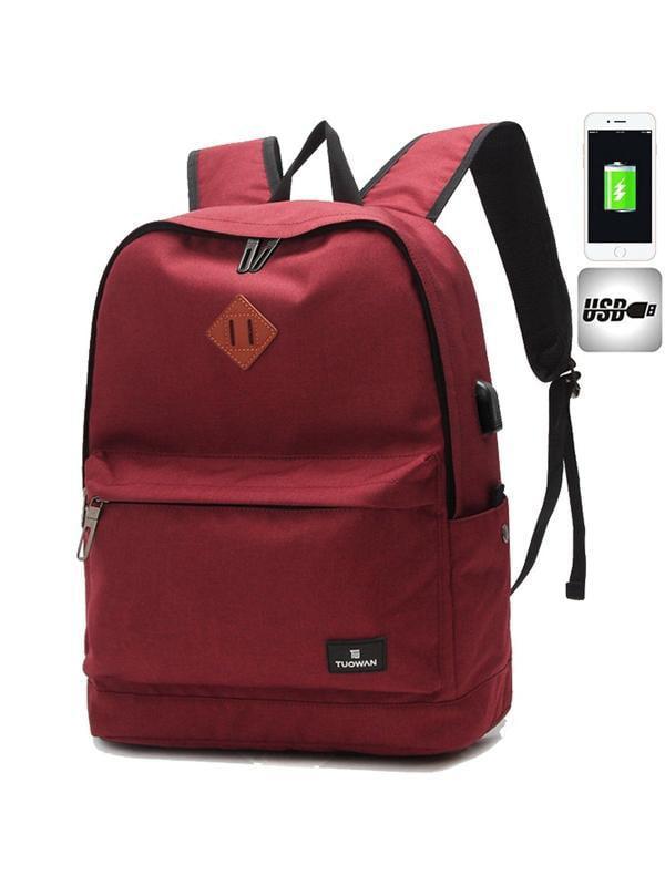 Men Women USB Port Oxford Backpack School Casual Travel Laptop Bag Rucksack New
