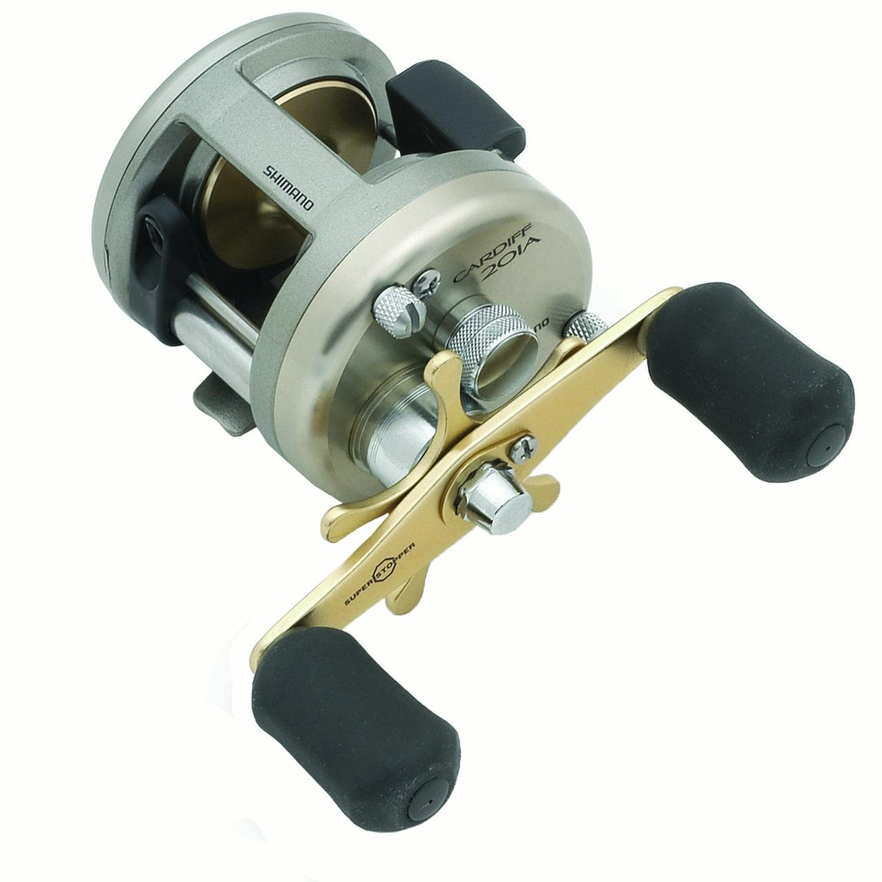 "Shimano Cardiff Baitcasting Reel 200 Reel Size, 5.8:1 Gear Ratio, 24"" Retrieve Rate, 5 Bearings, Left Hand"