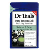 Dr Teal's Balance & Calm with Matcha Green Tea Epsom Salt Soaking Solution, 3 lbs.