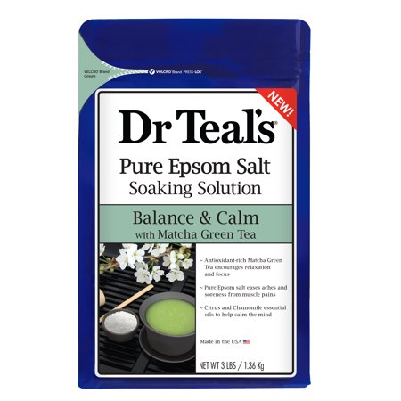 (2 pack) Dr Teal's Balance & Calm with Matcha Green Tea Epsom Salt Soaking Solution, 3