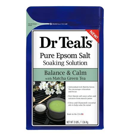 Calming Green Tea - (2 pack) Dr Teal's Balance & Calm with Matcha Green Tea Epsom Salt Soaking Solution, 3 lbs.