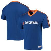 FC Cincinnati Mitchell & Ness Overtime Win V-Neck T-Shirt - Royal