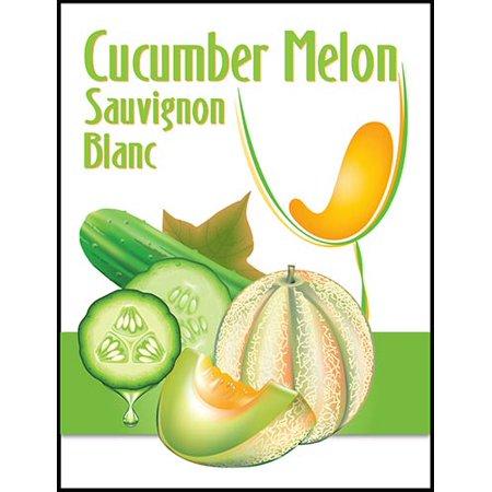 Cucumber Melon Sauvignon Blanc Wine Labels (Indaba Sauvignon Blanc Wine)