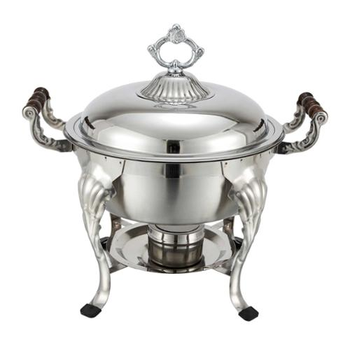 FortheChef  Hamilton 5 Qt. Round Stainless Steel Chafer