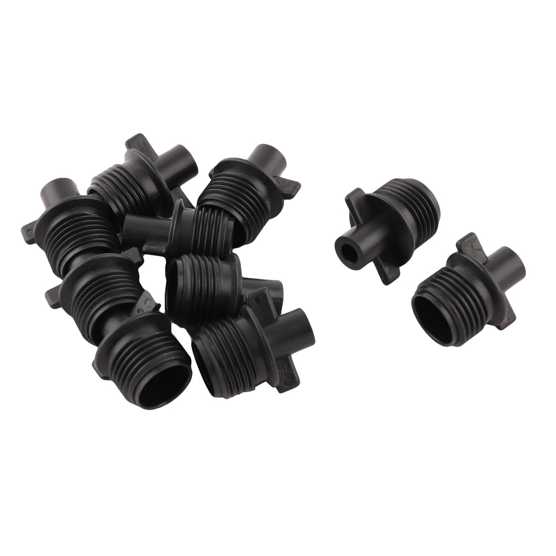 Plant Irrigation Fittings Pipe Tube Connector Adapter 1/2BSP Thread Dia 10pcs