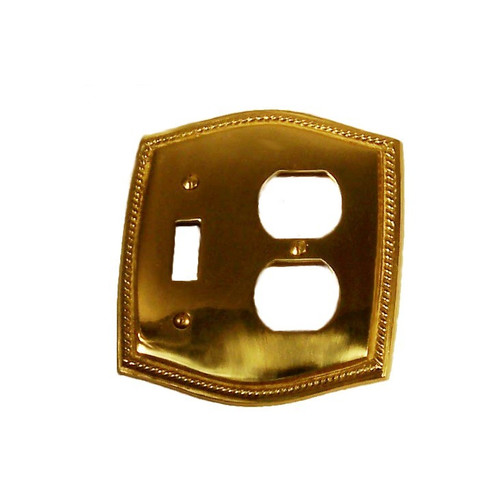 BRASS Accents Rope Double Combo Wall Plate (Set of 2)