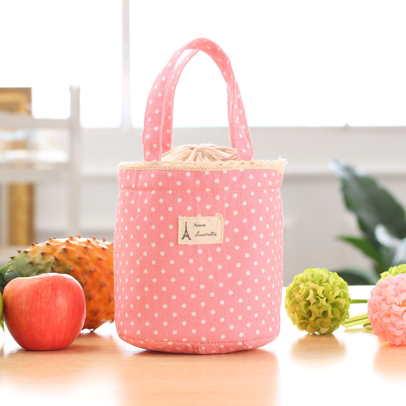 Thermal Insulated Tote Lunch Box Cooler Bag Bento Pouch Lunch Container