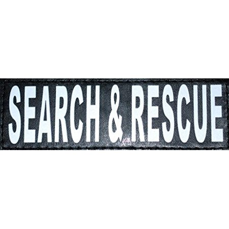 Search Rescue Dog Vest (Doggie Stylz Set of 2 Reflective SEARCH & RESCUE Patches for Service dog harnesses & vests.)