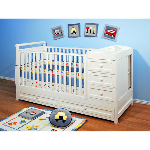 AFG Athena Daphne 3-in-1 Fixed-Side Crib and Changer Combo, Choose Your Finish