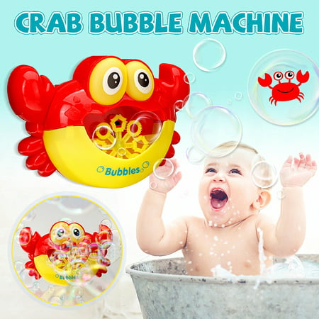 For Baby Bubble Machine Crab Automatic Bubble Maker Flashing lights Musical Bath Toy