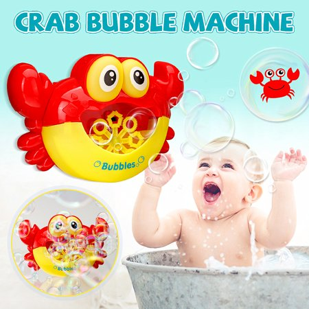 For Baby Bubble Machine Crab Automatic Bubble Maker Flashing lights Musical Bath Toy - Fog Bubble Machine