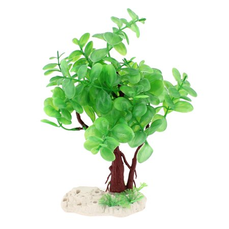 Fish Tank Aquascaping Green Teardrop Shape Leaf Manmade Aquatic Grass Ornament