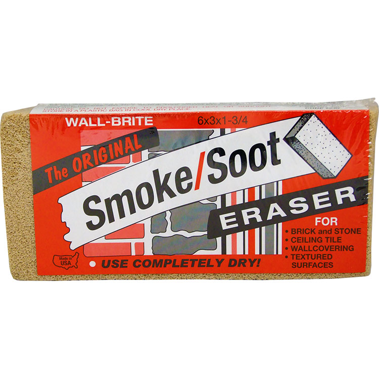 Smoke Soot Eraser Removal Sponge Cleaner Safe and Non-toxic Wall-Brite 12 Pack