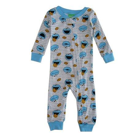 Sesame Street Baby Boys Grey Cookie Monster - Sully Monsters Inc Onesie