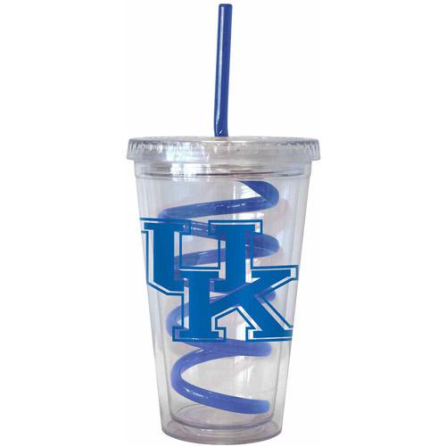 16oz NCAA Kentucky Wildcats Swirl Straw Tumbler