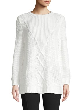 Long-Sleeve Cable-Knit Sweater