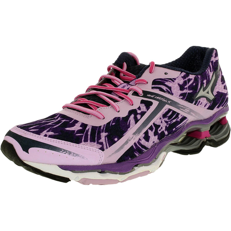 Mizuno Women's Wave Creation 15 Purple/Light Blue/Purple Ankle-High Fabric Running Shoe - 7M