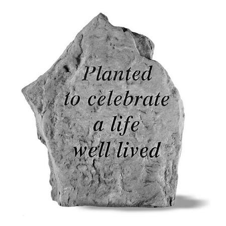 Planted To Celebrate Life Memorial Stone Marker Memorial Stone Marker