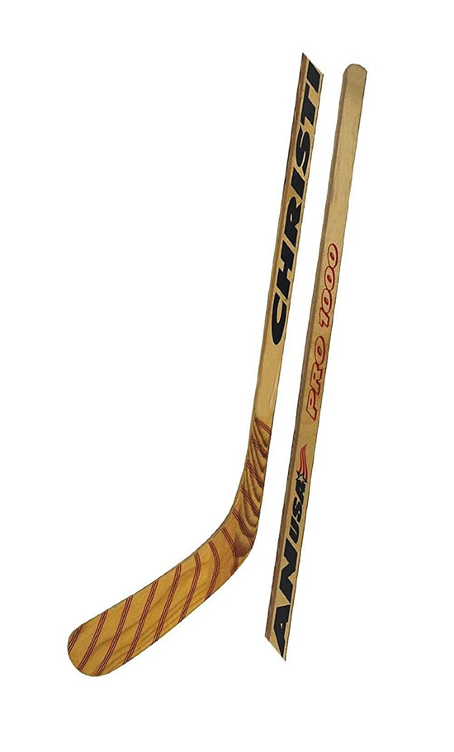 Christian Pro 1000 Wood Ice Hockey Stick: (Junior Stick, Left Curve), Features Wooden Handle & Blade By Christian Hockey by