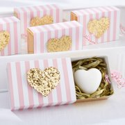 Kate Aspen Heart of Gold Scented Heart Soap - Set of 12 - Hostess Gift, Guest Gift, Party Souvenir, Party Favor or Decorations for Weddings, Bridal Showers, Baby Showers & More
