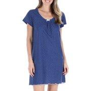 Sleepyheads Women's Cotton Short Sleeve Nightgown Sleep Dress Pajama