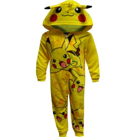 21e3ceb23875 P . amz brand  - Pokemon Pikachu Onesie Pajama - Walmart.com