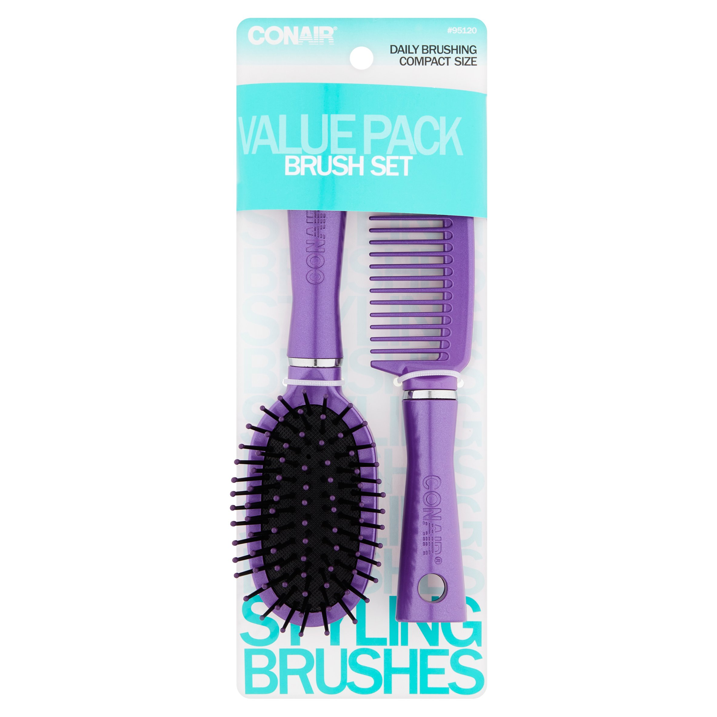 Conair Compact Size Brush Set Value Pack - Color May Vary
