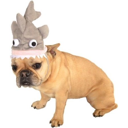 Grey Shark Animal Dog Cat Hat Funny Headpiece Pet Costume Accessory Halloween