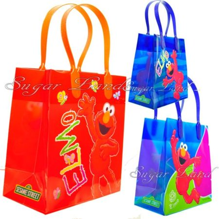 12 Elmo Party Favor Bags  Birthday Candy Treat Favors Gifts Plastic Bolsas De - Baby Elmo 1st Birthday Party Supplies