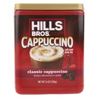 Hills Bros. Classic Cappuccino Instant Coffee Mix, 14 Ounce Canister