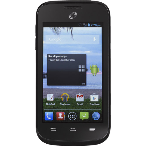 Total Wireless ZTE Savy Z750C Prepaid Android Smartphone