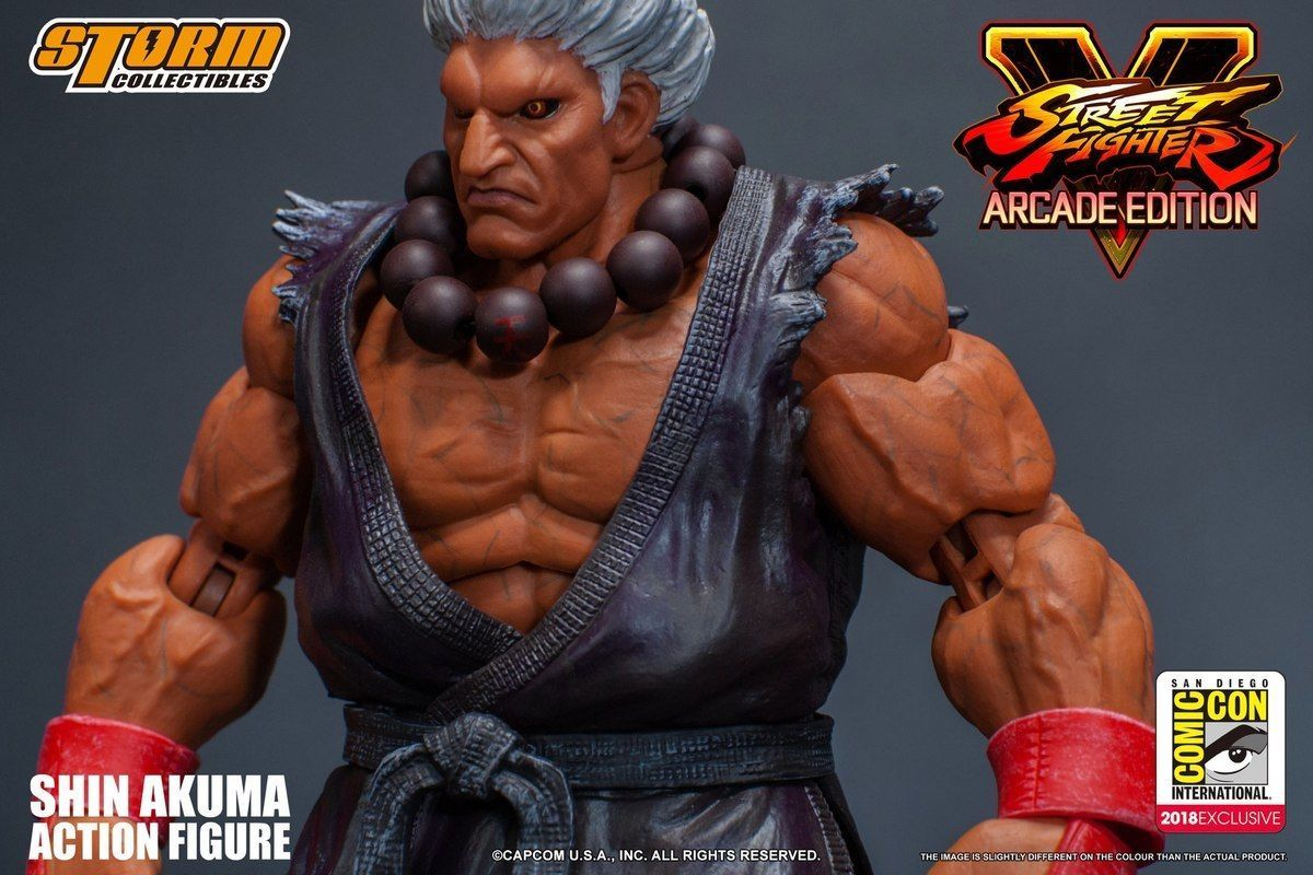 Storm Collectibles Street Fighter V SDCC 2018 Shin Akuma Costume 1:12  Action Figure