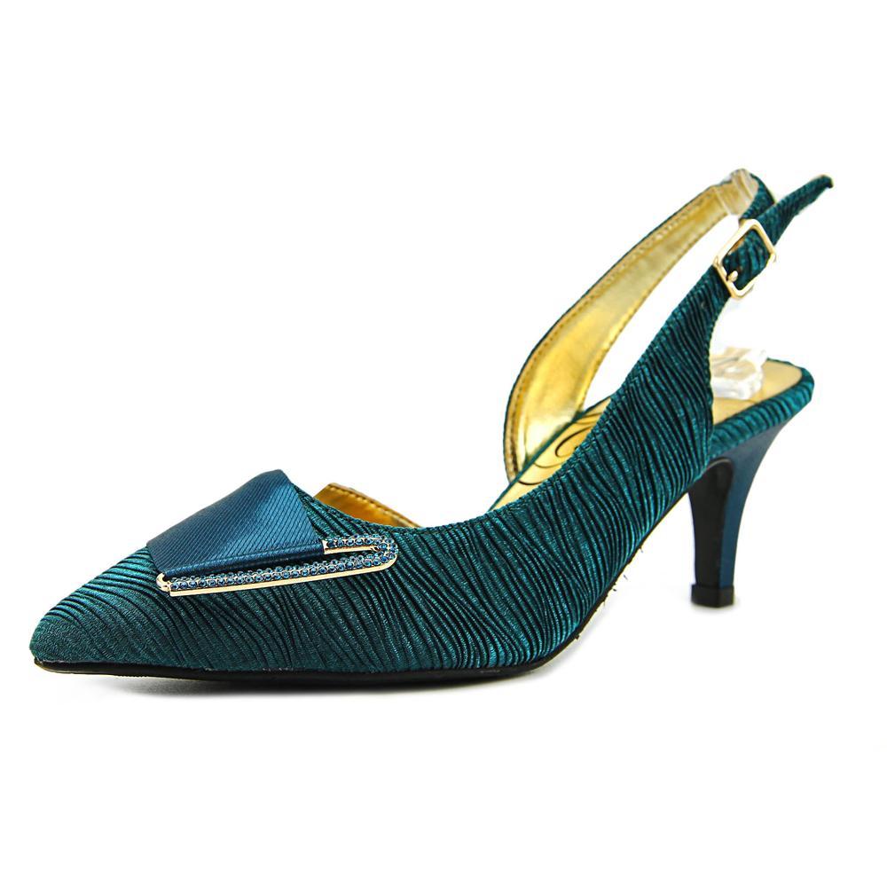 J. Renee CARALEE Pointed Toe Canvas Slingback Heel by J. Renee