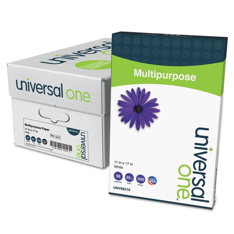Multipurpose Paper, 98 Brightness, 20lb, 11 X 17, Bright White, 2500 Shts/ctn