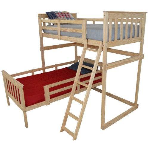 Zoomie Kids Swainsboro Loft Bed with Side Ladder