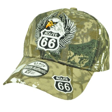 - Route 66  Eagle Camouflage Camo Adjustable Hat Cap Historic Mother Road America