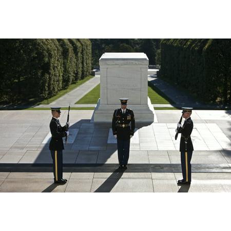 Changing Of Guard At Arlington National Cemetery Arlington Virginia Usa Poster Print