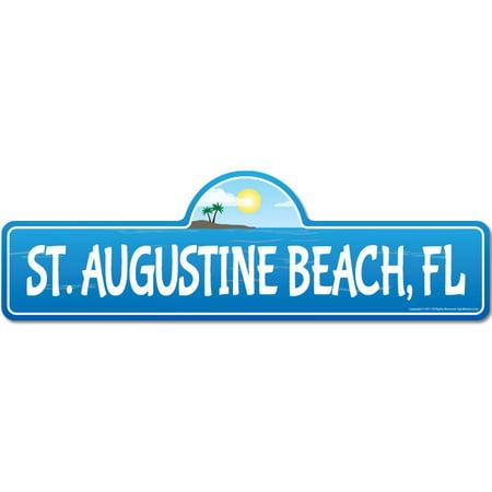 St. Augustine, FL Florida Beach Street Sign |Surfer, Ocean Lover, Beach House ()