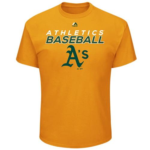 Oakland Athletics Majestic Bring the Battle T-Shirt - Gold