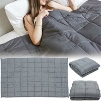 Dark Grey Gray Cotton Adult Weighted Blanket Bedding 4.5/ 7/ 9.5 Kg (9.9/15.4/20.9Lbs)