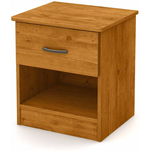 South Shore Smart Basics 1-Drawer Nightstand, Multiple Finishes