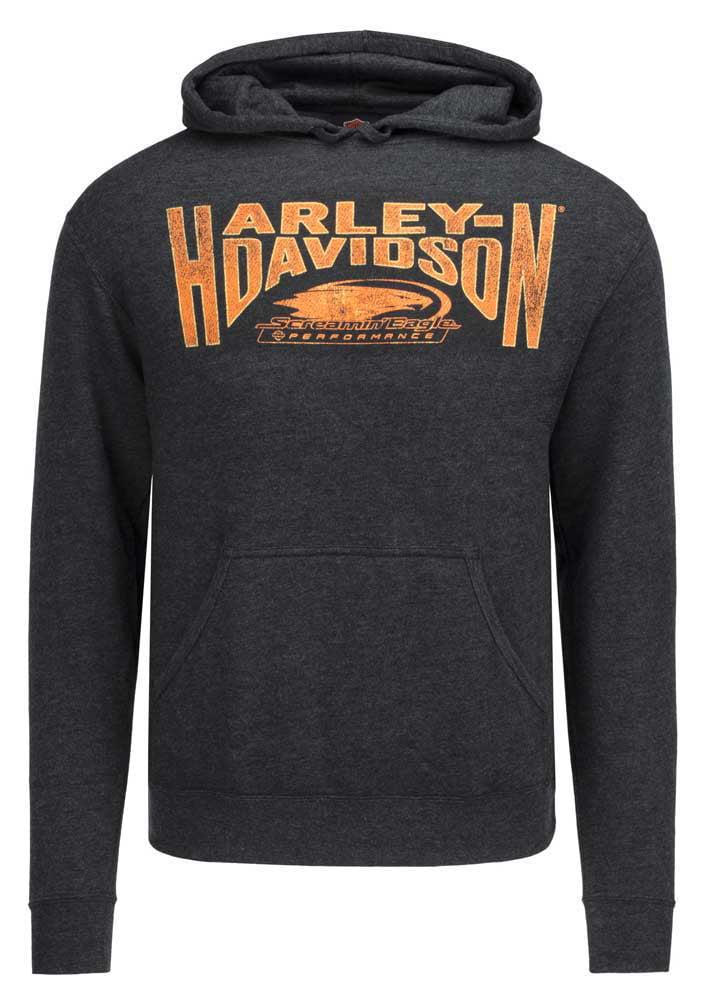 Harley-Davidson Mens Race Tested Full Zip Black Hoodie Jacket Sweatshirt
