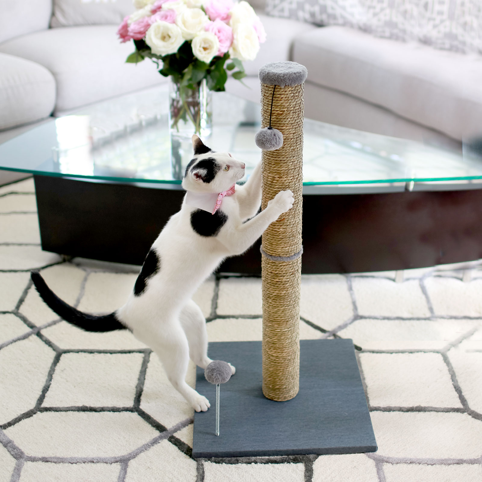 """Cat Craft Cc 32"""" Tall Seagrass Scratching Post by One Source International, LLC"""