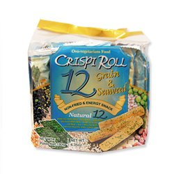 12 Grain & Seaweed Crispi Roll Snack 180g (Pack of 2) by Ovo
