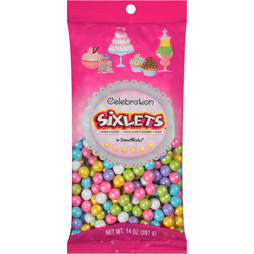 SweetWorks Confections, LLC Celebration by SweetWorks Sixlets Chocolate Flavored Spring Mix Candy, 14 oz