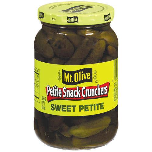 Mt. Olive Petite Snack Crunchers Sweet Petite Pickles, 16 fl oz